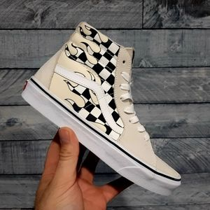 Vans SK8 HI Flame White Unisex Shoes